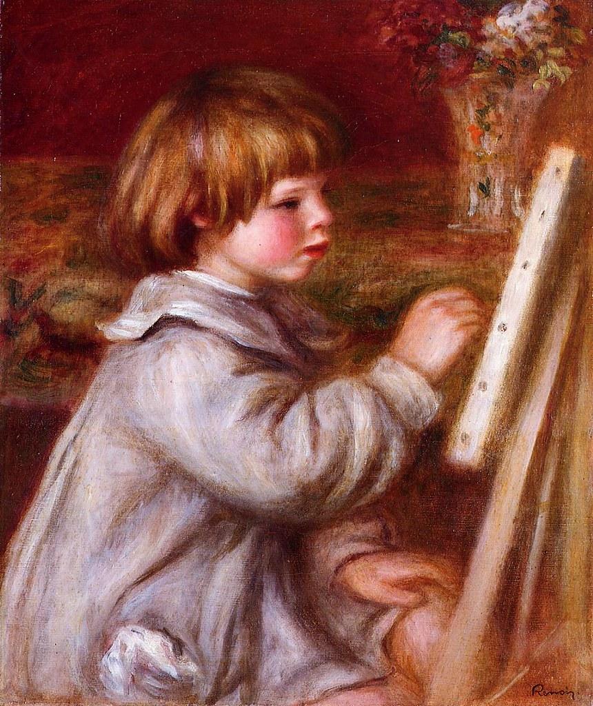 Portrait of Claude Renoir Painting , 1907