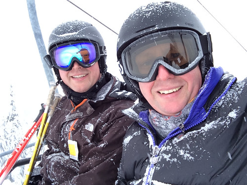 Alfred and me on Cypress Mountain (Feb. 23, 2014)