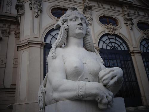 Wien, 3. Bezirk (Schloss Belvedere), Palacio de Belvedere, Belvedere Palace, Palazzo di Belvedere, le Palais de Belvedere (the upper part), Prinz-Eugen-Straße/Landstraßer Gürtel