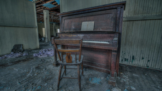 in this church had over 8 pianos and some were destroyed by vandalism