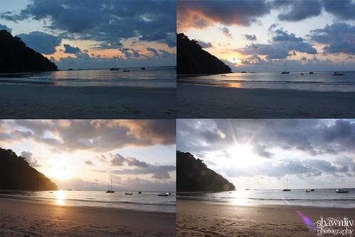 Sunrise at Juara Beach Resort Tioman, Pahang Malaysia