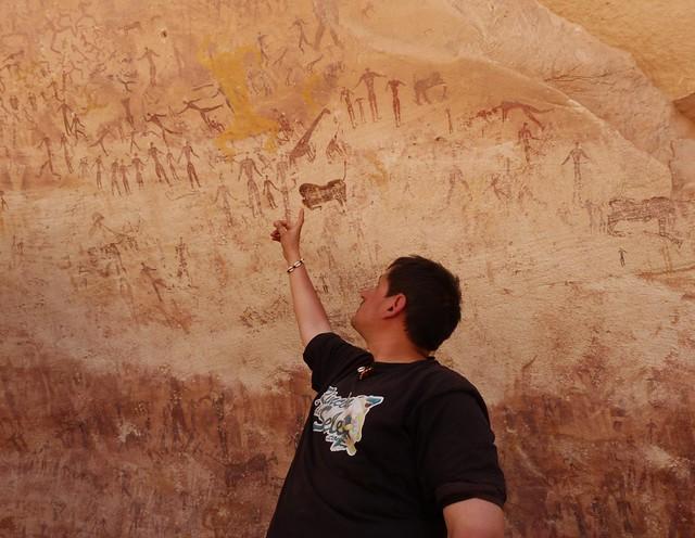 Wadi Sura 2 (Cueva de las bestias) en Gilf Kebir (Desierto Líbico, Egipto)