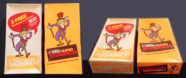 Vintage 1970's Willy Wonka's Super Skrunch Candy Bar Retail Box