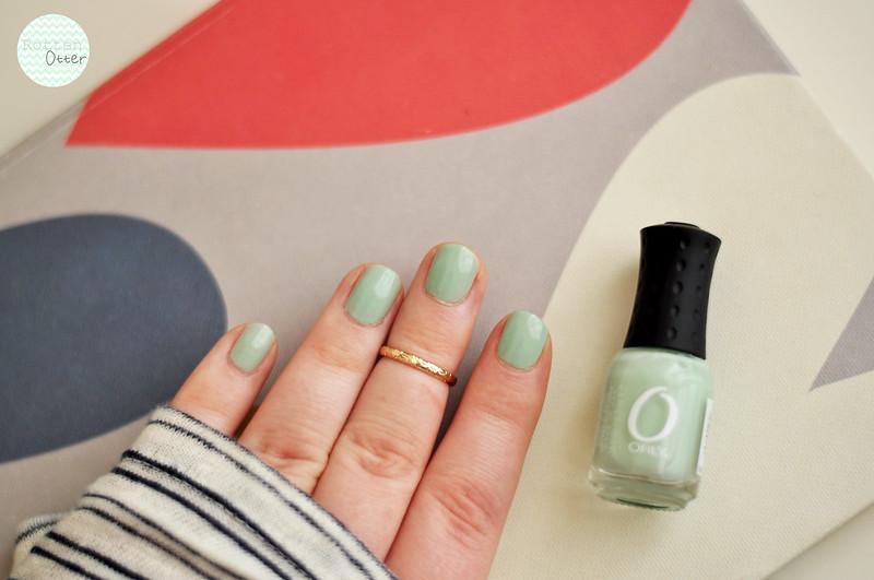 notd orly jealous much nail polish mint green creme rottenotter rotten otter blog