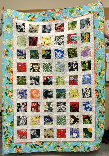 Hawaiian Squares Quilt