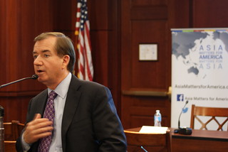 Congressman Ed Royce, Chairman of the House Committee on Foreign Affairs, giving remarks at the event.