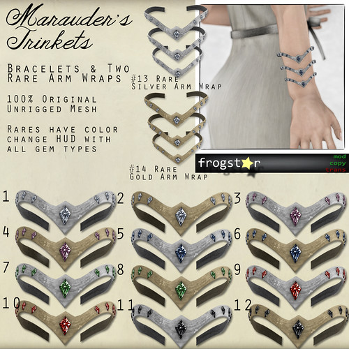 Frogstar - Marauder's Trinkets (Bracelets) Gacha Poster