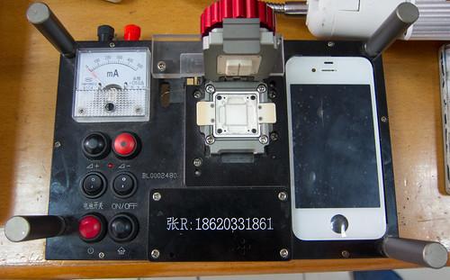iPhone 4 testing apparatus