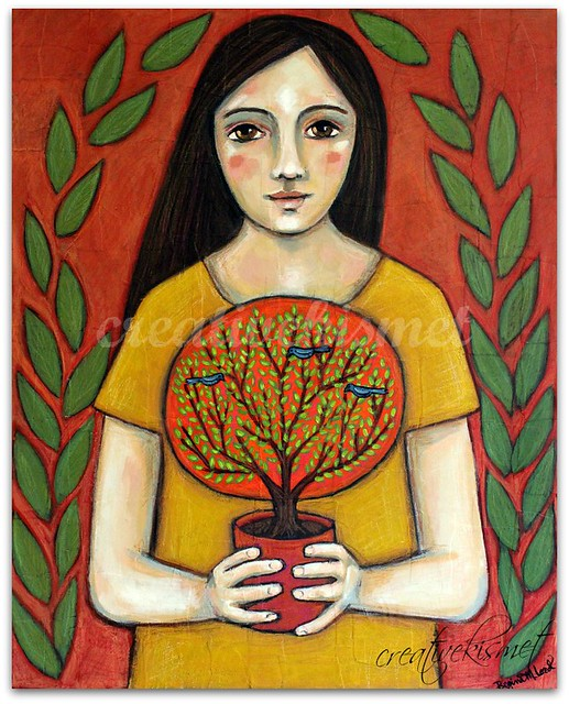 the tree keeper, painting by Regina Lord