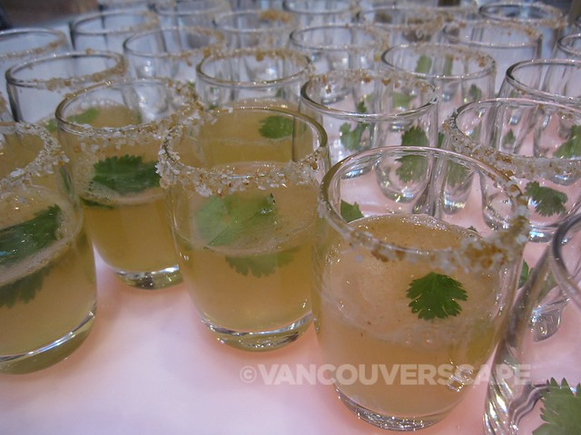 Landon Cann of Glowbal's cilantro-infused tequila