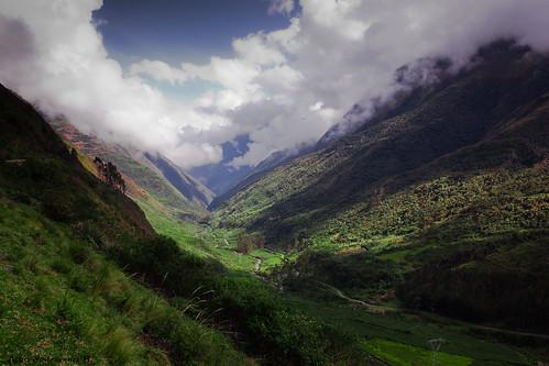 blue mountains green clouds landscape bolivia valley lapaz yungas deepvalley choquetanga