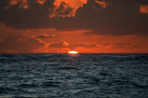 ocean sky sun water clouds sunrise rising dominicanrepublic surface emerging atlanticocean puntacana thegalaxy infinitexposure