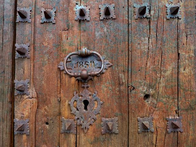 front portal of  Església de Santa Maria la Major, Prades , Catalunia