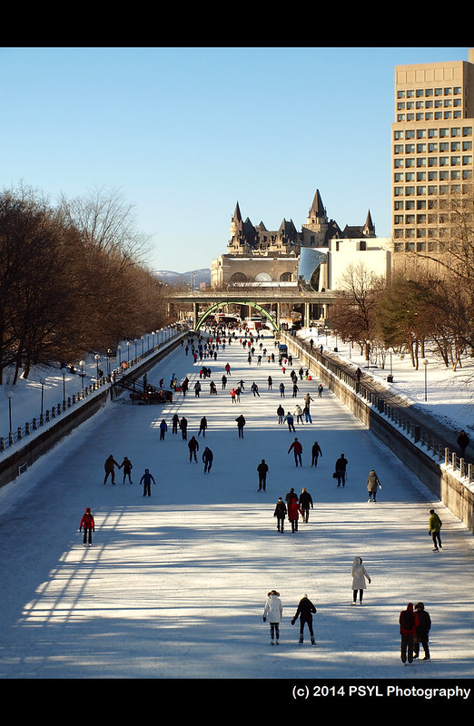 People on Rideau Canal