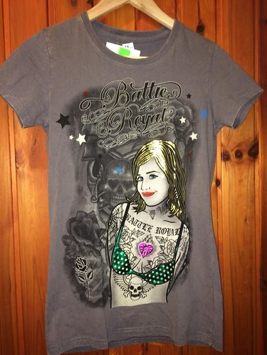 Dámske tričko - Batty Royal šedé