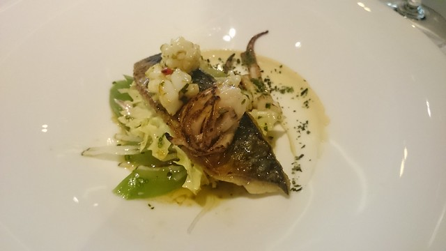 La Trompette - Mackerel, squid, pickled cucumber