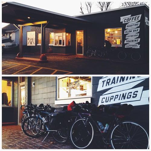 Springfield Sunrise Coffee & Bicycle Club ride to Brick & Mortar Coffee