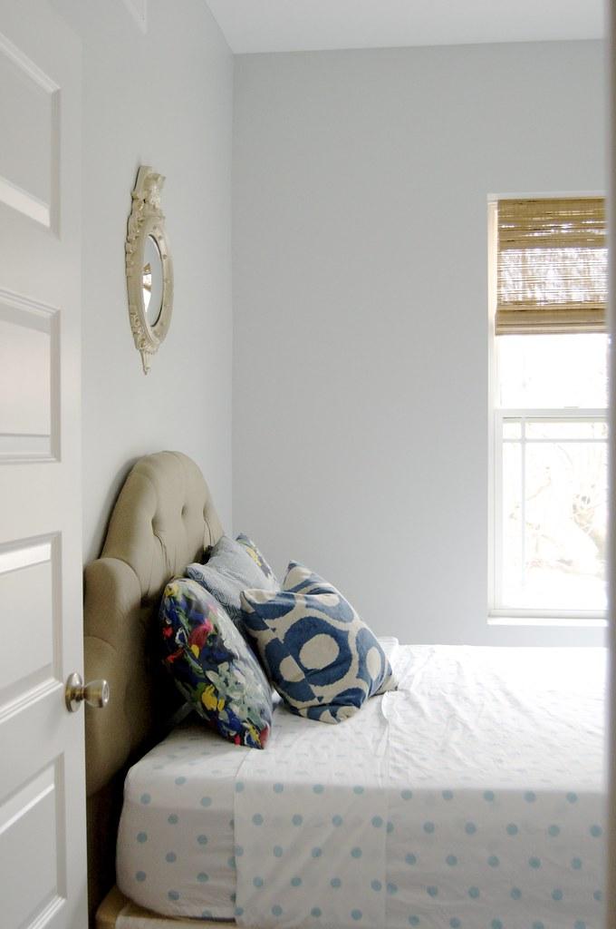 Freshly Painted Guest Bedroom