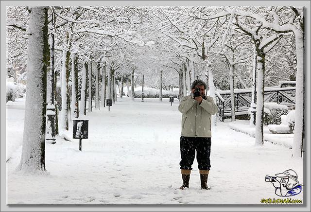 16 Primera nevada en Briviesca 2015