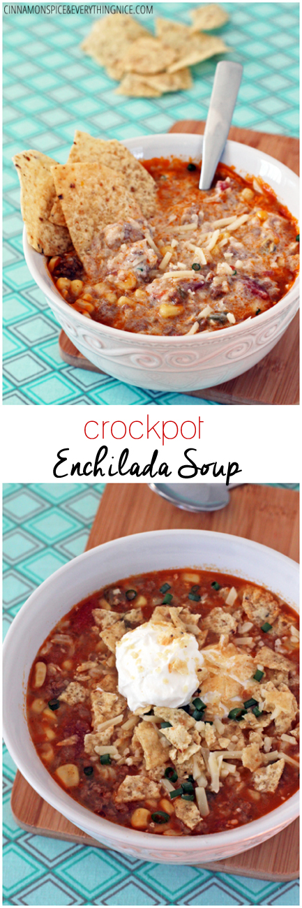 Enchilada Soup | A hearty and flavorful Tex-Mex inspired soup - like a warm, spicy delicious hug in a bowl. {cinnamonspiceandeverythingnice.com}