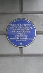 Photo of William Petty blue plaque