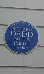Photo of Richard Dadd blue plaque