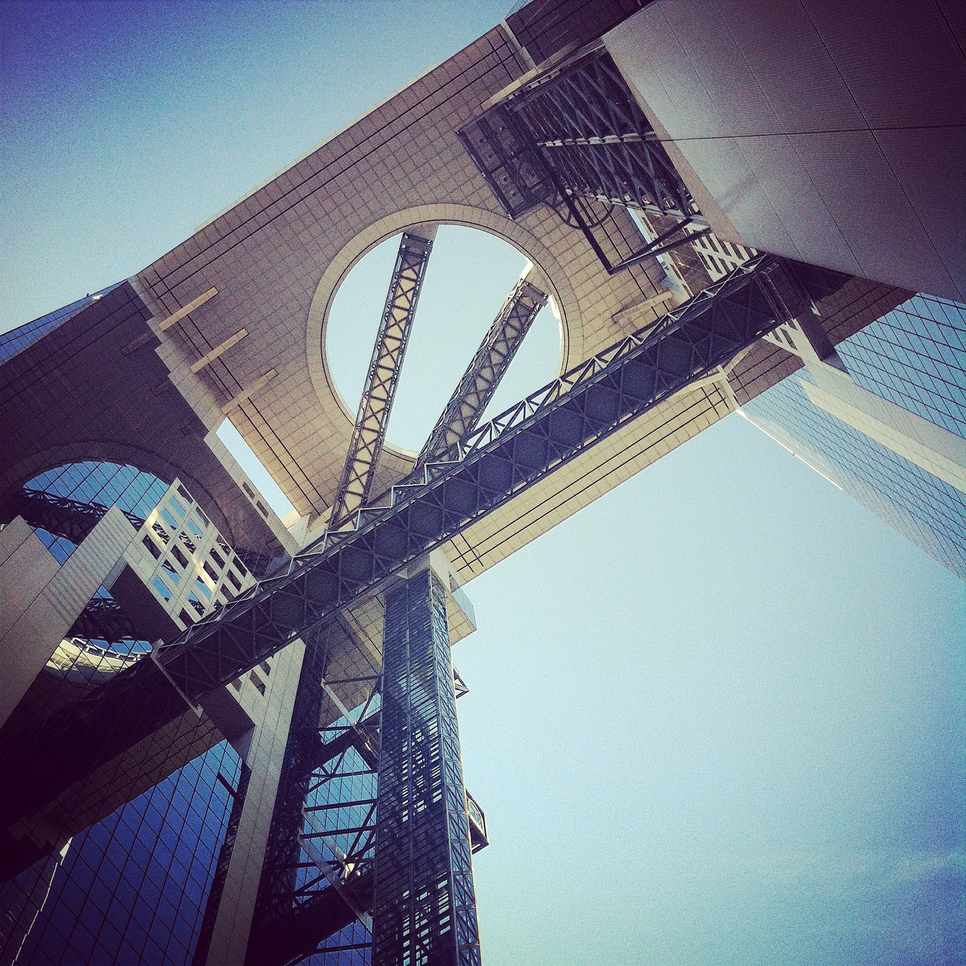 Umeda Sky Building from below
