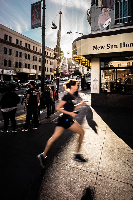 Running in the city, Chinatown, San Francisco
