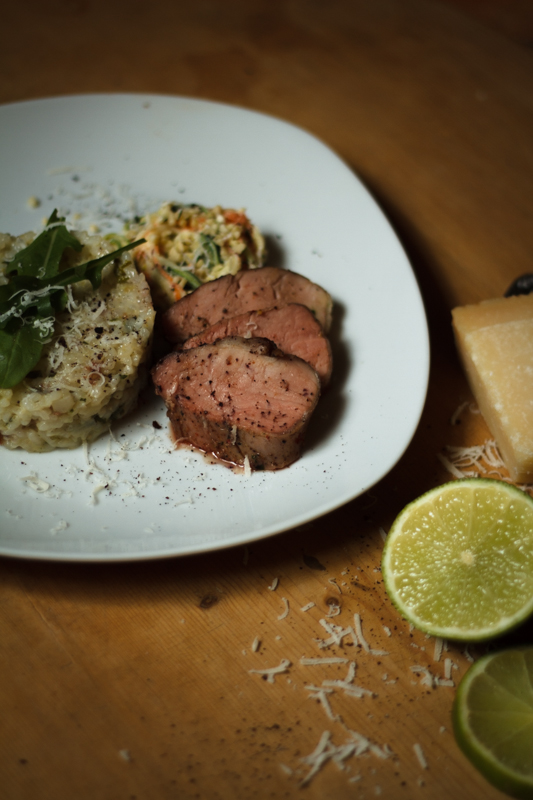 risotto_reis_rice_pork_courgette_zucchinisalat