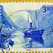 great stamp Norway 3.80 Hornelen (~1900 old steamboat, Dampfer,  vapeur, barco de vapor, vapore, 汽船, stoomboot, парохо́д, vapor, parowiec, 蒸気船, dampskibet) Briefmarken Norwegen timbre Noreg selo Norge francobollo Norvegia марка Норвегия Nuówēi norwegian by thx for sending stamps :) stampolina