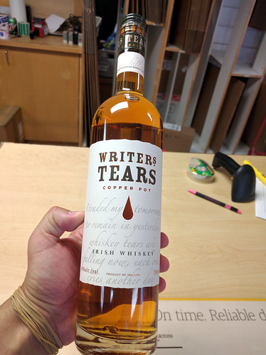 Writers Tears Irish whiskey, PO Box, Burbank, California, USA