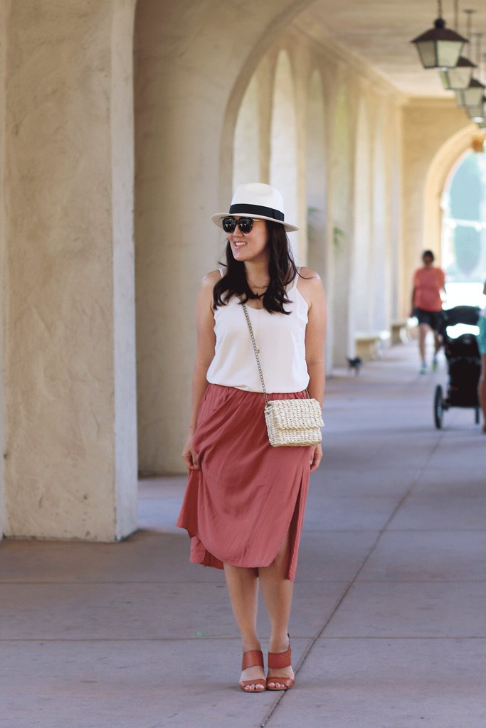 simplyxclassic, miriam gin. san diego, balboa park, forever 21 clothes, skirt, cami, affordable outfits, what to do in san diego, fashion blogger, mommy blog, orange county