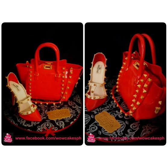 Valentino 3D Bag Cake with Valentino Stiletto Shoes by Wowie Lontok of WOW!CAKESph
