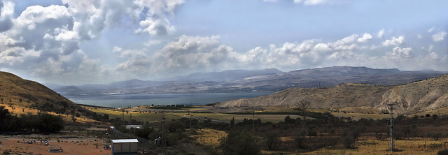 Kineret panoramic view from Golan Heights.(05.2016)