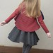 Clare's circle skirt in textured knit from Rathdowne Fabrics