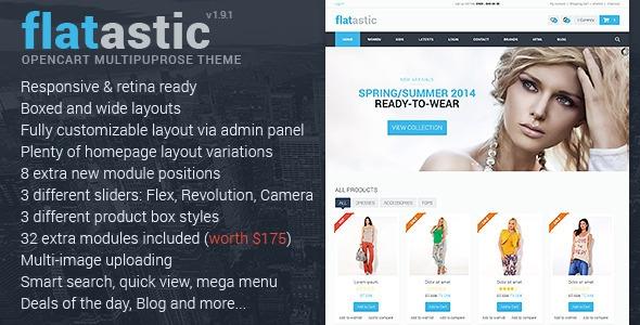 Flatastic v1.8 - Premium Multipurpose OpenCart Theme