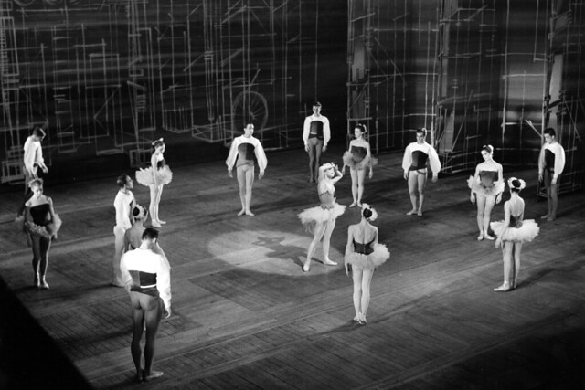 Anya Linden as The Girl and members of The Royal Ballet in Solitaire. Photograph by Roger Wood © 1958 Royal Opera House
