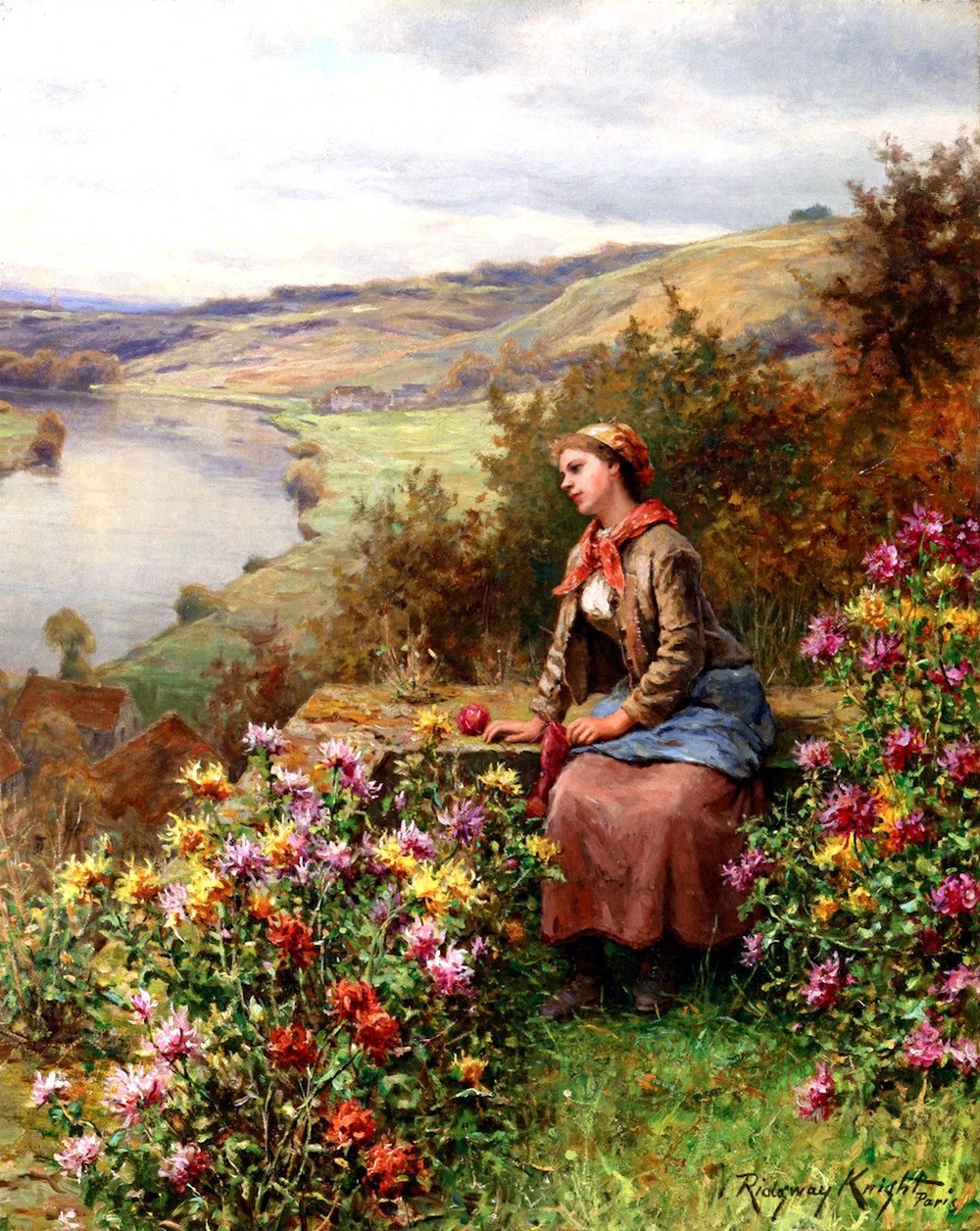 Daydreaming by Daniel Ridgway Knight