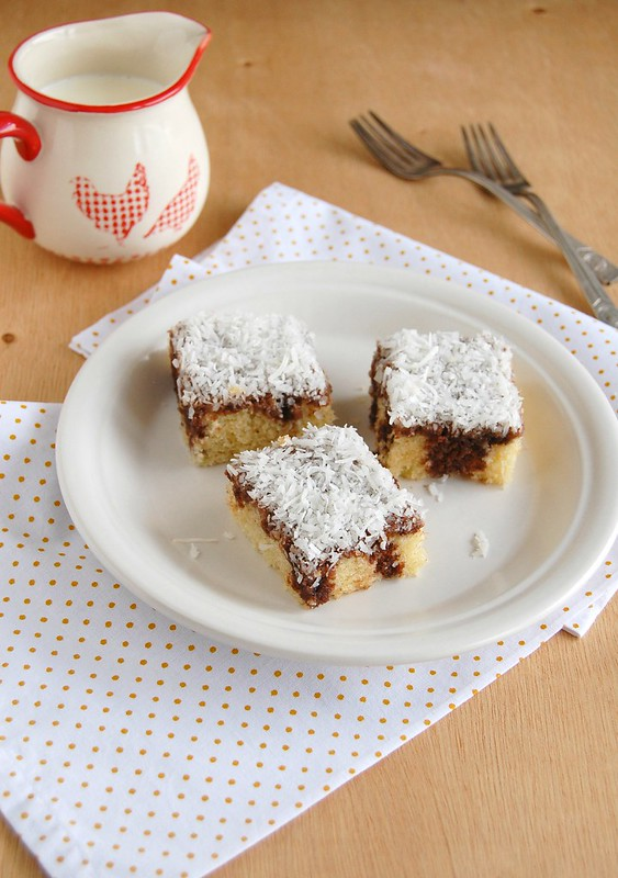 Lamington bars / Barrinhas lamington