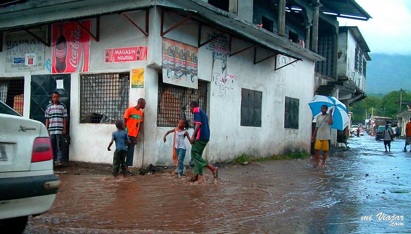 Un día de lluvia, África