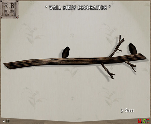 GIFT ! *RnB* Wall Birds Decoration - HCS Hunt Gift