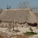 Palm-thatched house with sand filled coke bottles - Casa con techo de palma y botellas de coca-cola llenos de arena; San Mateo del Mar, Región Istmo, Oaxaca, Mexico por Lon&Queta
