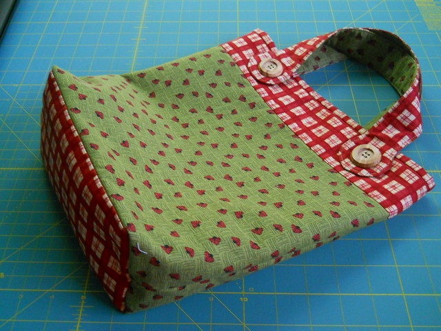 home sewn tote bag