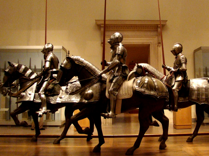 The Met knights in shining armor