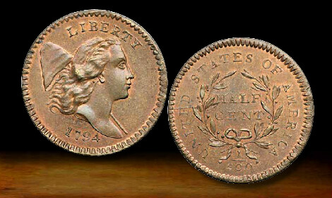 Finest grade 1794 Half Cent