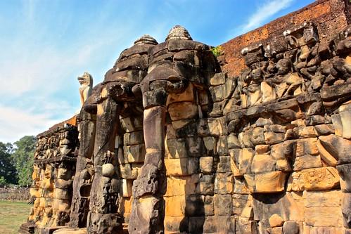 elepahnt terrace in Angkor Thom