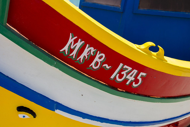 Luzzu Boats in Marsaxlokk