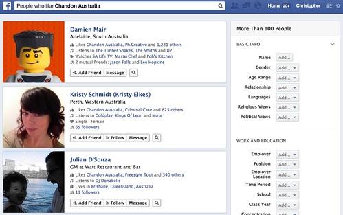 People who like Chandon Australia