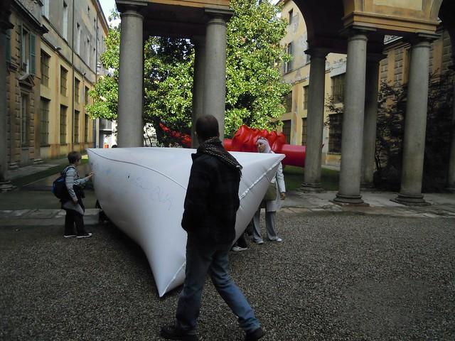 2010 - Sconfinamenti, cortile del Museo Ala Ponzone, Cremona