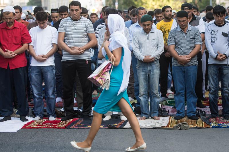 Muslims celebrate Eid Ul Fitr in St. Petersburg, Russia